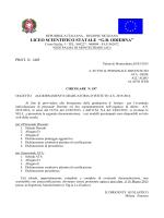 AGGIORNAMENTO GRADUATORIA D`ISTITUTO A.S.