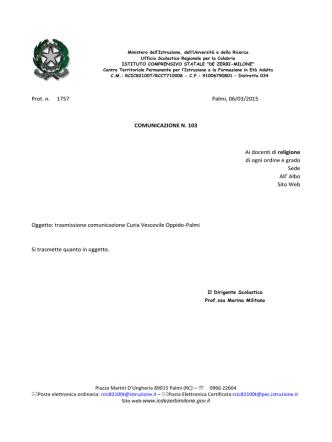 Comunicazione. - icdezerbimilone.gov.it