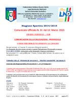 C.U. 31 2014-2015 - FIGC