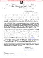 Nota USR  - Ufficio Scolastico Regionale per l`Umbria