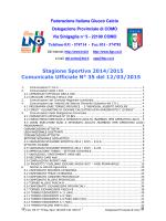 COMUNICATO n.35 del 12/03/2015
