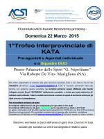 Gara Interprovinciale Kata 22 Marzo 2015 rettifica