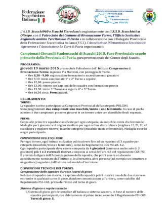 CGSPavia2015 - Istituto Comprensivo Rivanazzano