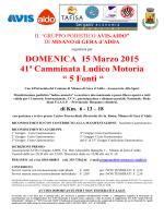 Volantino - 5 FONTI 2015
