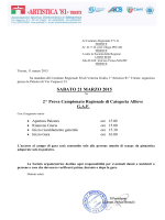 Programma 2^ prova Campionato di Categoria Allieve