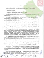 Il verbale con le regole sulle assunzioni e la tabella degli inserimenti