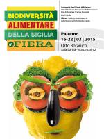 Palermo 16-22 | 03 | 2015 - Biodiversità Alimentare della Sicilia