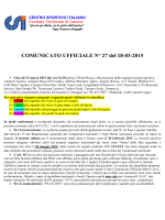 Comunicato Ufficiale N. 27/2014-2015
