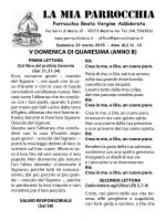 LA MIA PARROCCHIA - Beata Vergine Addolorata
