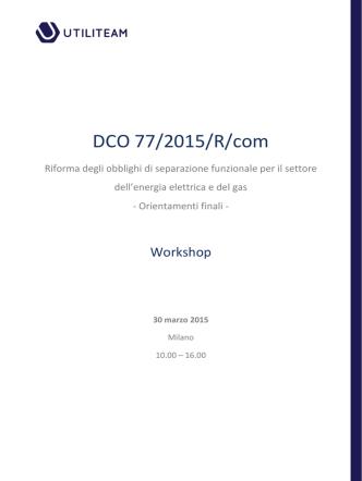 DCO 77/2015/R/com