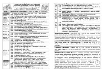 Avvisi - Parrocchia Ss. Redentore Lonigo (Vicenza)