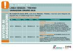 Linea Venezia - Treviso Bus VE 112 VE 114 dal 23-03