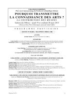 LA CONNAISSANCE DES ARTS ?