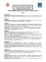 Programmone aprile 2015