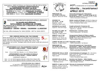 APRILE 2015.pub - Eventi e Sagre