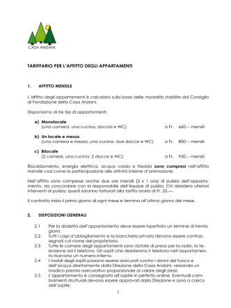 8. Tariffario per l-affitto degli appartamenti PDF