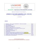 LINGUE E CULTURE EUROPEE (D.M. 270/04)
