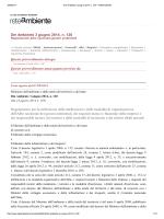 Dm Ambiente 3 giugno 2014, n. 120 Regolamento per la definizione