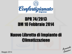 DPR 74/2013 DM 10 Febbraio 2014 Nuovo Libretto di Impianto di