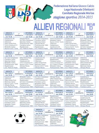 Calendario Allievi 2014/2015 - polisportiva SS.Pietro e Paolo