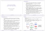Comunicazioni Wireless Introduzione - I Introduzione - II DS-SS