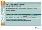 DAL 23 GIUGNO 2014 LINEA CAMPOBASSO