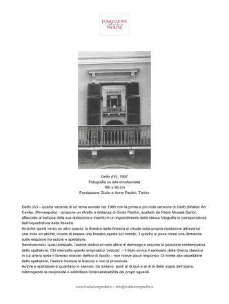 Delfo (IV) - Fondazione Giulio e Anna Paolini