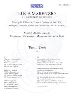 TC.531302 - Luca Marenzio (1553-1599), Fabritio Caroso