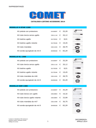 COMET.accessori -cat-list 2014 - rappresentanze