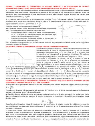 DEFINIRE I COEFFICIENTI KT (COEFFICIENTE DI