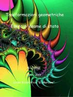 Trasformazioni geometriche Esercizi esame di stato