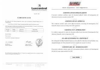 certificato di omologazione certificate of approval certificat d