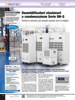 Deumidificatori stazionari a condensazione Serie DH-S