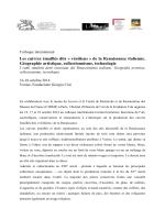 Communication presse français colloque