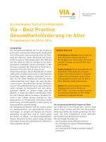 Via – Best Practice Gesundheitsförderung im Alter