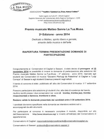 .LA *IM. MUSA. Premio musicale Matteo Sanna La.Tua.Musa. 2a
