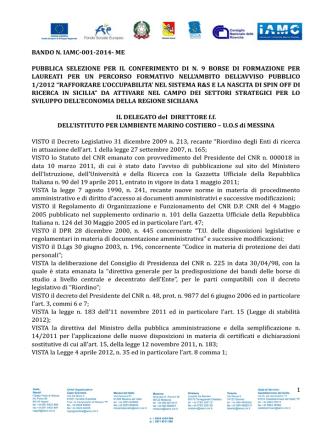Decreto pubblicazione graduatorie d`istituto provvisorie