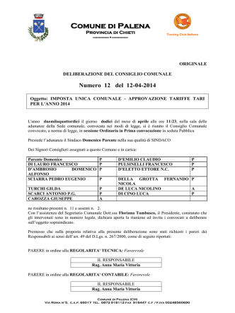 Comunicato Ufficiale n. 133 del 25 Marzo 2015