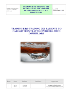 training e re-training del paziente e/o care