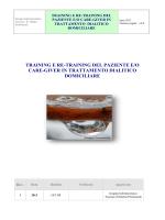 training e re-training del paziente e/o care