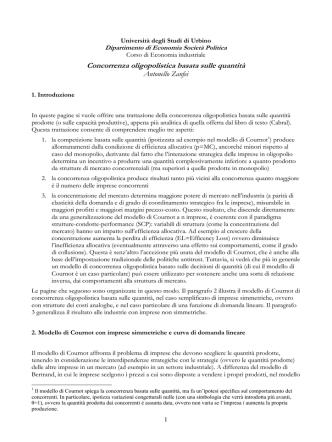 appunti su oligopolio - Facoltà di Economia