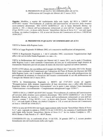 Decreto n. U00103 del 26 marzo 2014