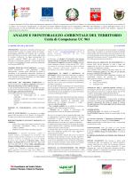 analisi e monitoraggio ambientale del territorio