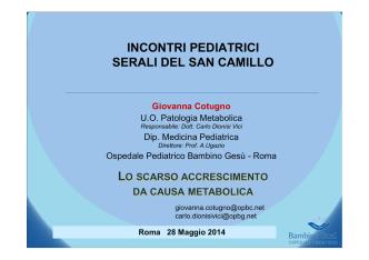 1) Giovanna COTUGNO - Azienda Ospedaliera S.Camillo