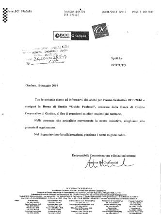 BORSA DI STUDIO GUIDO PAOLUCCI