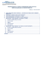 promozioni su tassi e condizioni applicate ai servizi bancari e d