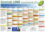Gemeinde LANG Umweltkalender 2014
