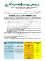aumento pensioni anno 2015