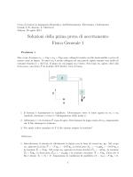 Soluzioni della prima prova di accertamento Fisica Generale 1