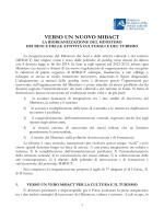 verso un nuovo mibact - Ministero per i Beni e le Attività Culturali